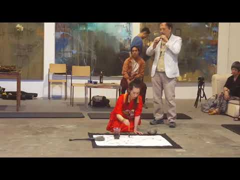 Sumi-e | Live painting performance in the Werkhalle Wiesenburg