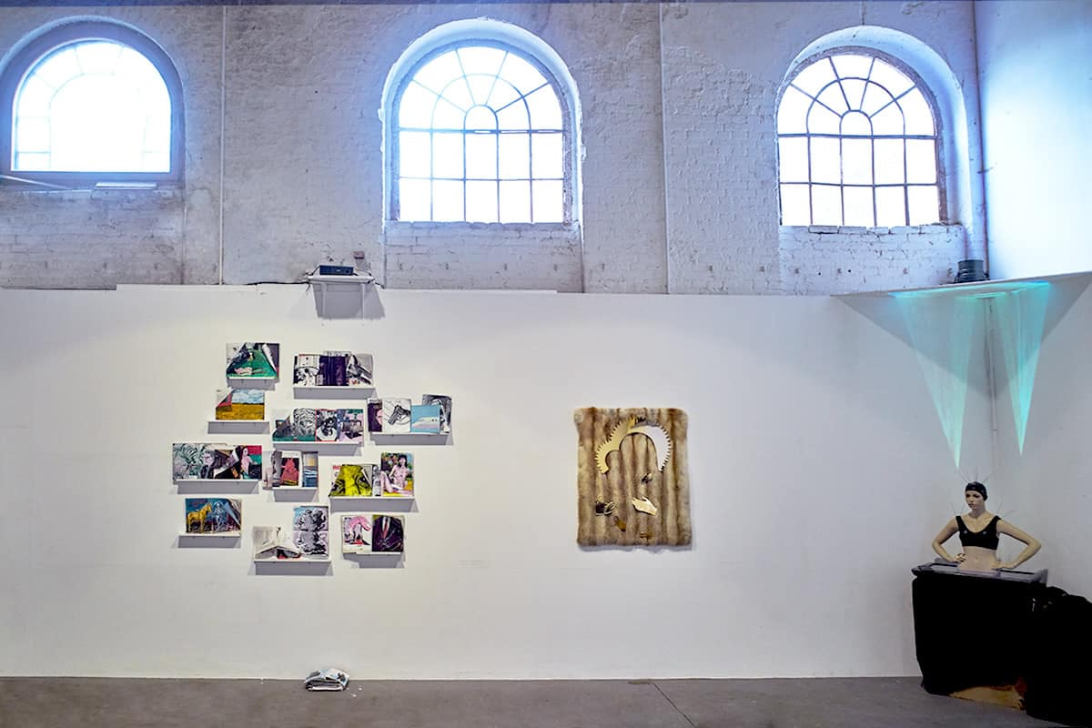 Werkhalle Wiesenburg Berlin - Leize Jenius Ausstellung installation view