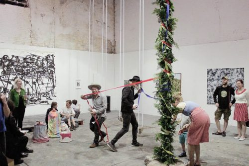 Pole Positions - building the maypole