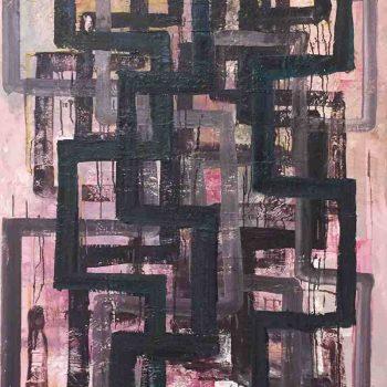 Still Untitled (Dark), Oil on Linen, 150x120cm, 2019